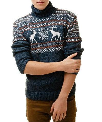 497f9f933c6 Популярный свитер с оленями из шерсти